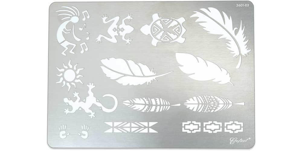 Craftool® Stainless Steel Stencil #3