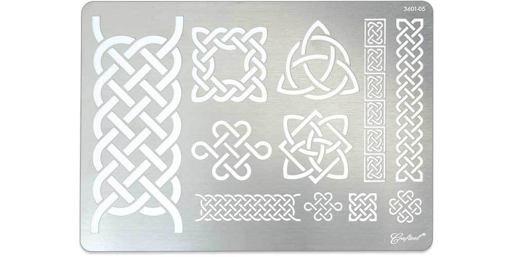Craftool® Stainless Steel Stencil #5