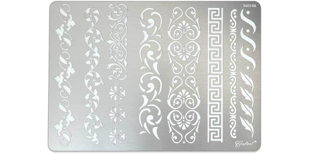 Craftool® Stainless Steel Stencil #6
