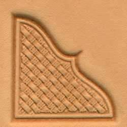 Basketweave Corner Craftool® 3-D Stamp