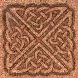 Square Celtic Craftool® 3-D Stamp