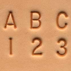 "Craftool® 1/4"" (6 mm) Alphabet & Number Set"