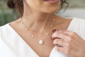 Cluster Pearls Necklace - Amal Al Majed Jewellery