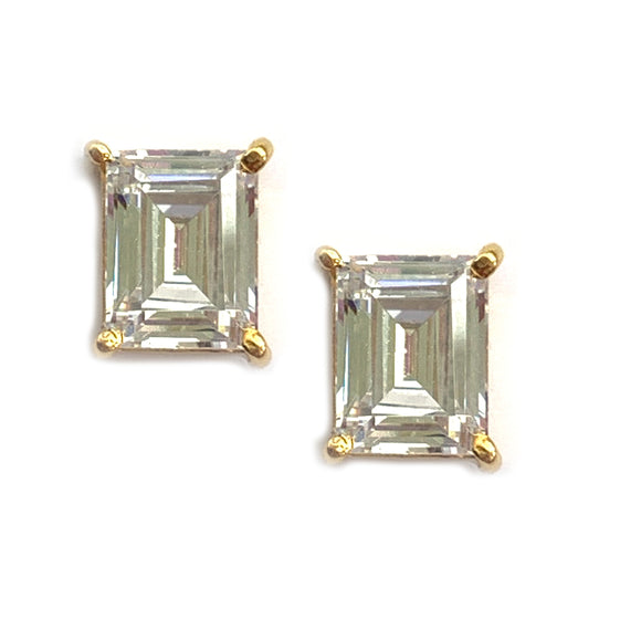 Rectangle Earring Stud - Amal Al Majed Jewellery