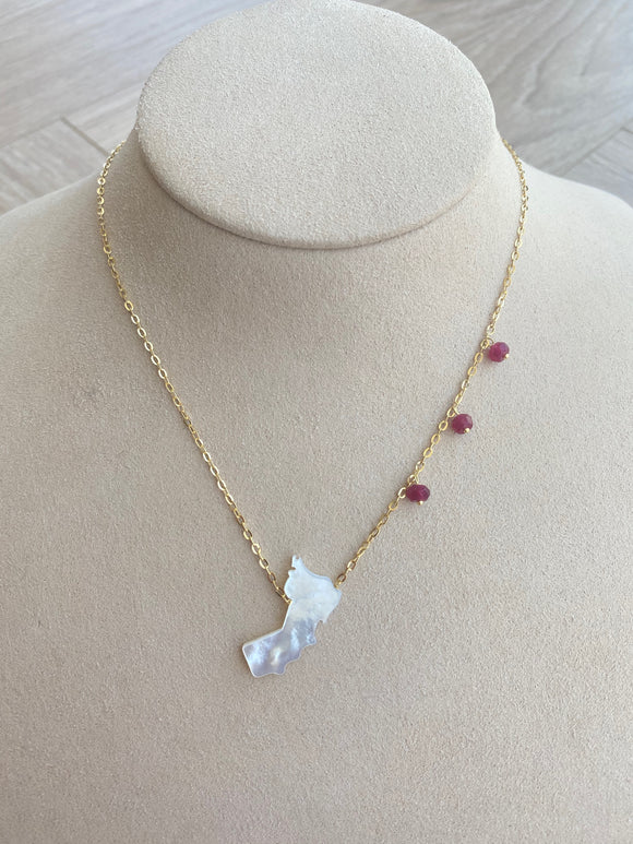 Oman Map Necklace