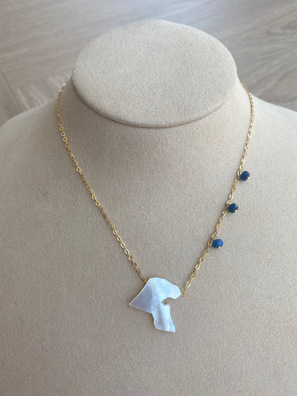 Kuwait Map Necklace
