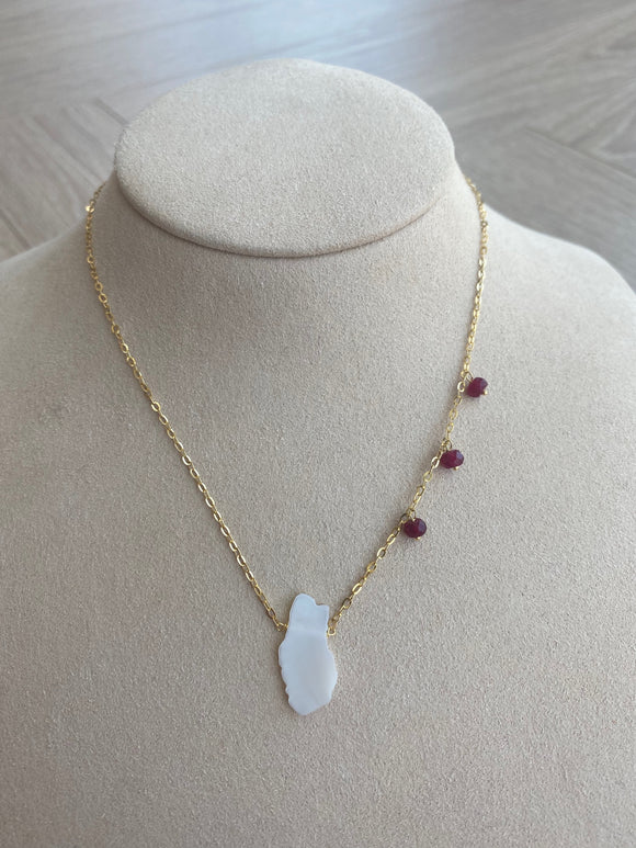 Qatar Map Necklace