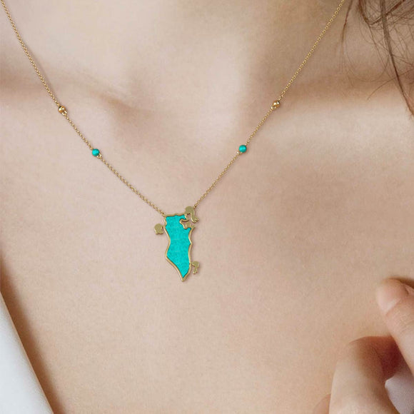 Bahrain Collection - Turquoise Necklace