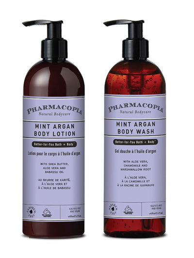 Argan Mint Body Wash and Lotion