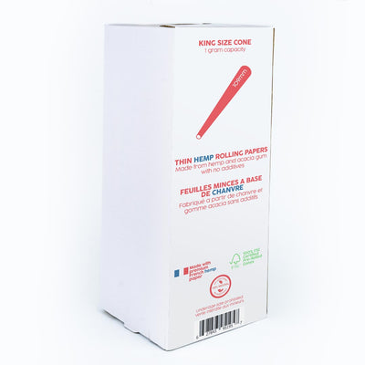 Papes Hemp Cones - 800 per Box - King Size (109/26mm)
