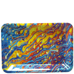 Metal Rolling Tray Multicolor Drops