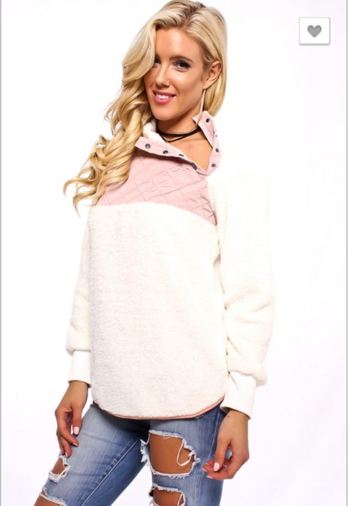 #15 Blush Fleece Pullover