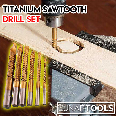Titanium Sawtooth Drill Set (6pcs)