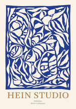 Stilleben Print Collection Hein Studio Poster Plakat 70x100 cm Laelia Blue Papercut