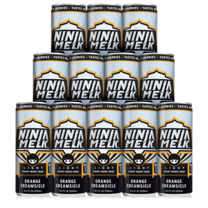 NEW! Ninja Melk Light Orangesicle Energy Drink -12 pack (12 x 250mL Cans) - Europe