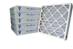 18x24x4 Pleated Air Filter (Merv 8, Maxi-Pleat) (6-Pack)