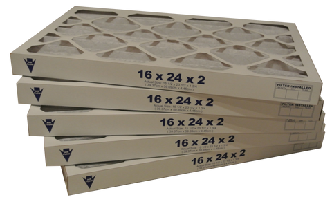 16x25x2 Pleated Air Filters (Merv 8, Maxi-Pleat) (12-Pack)