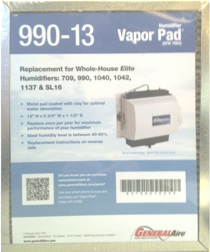 General Aire Vapor Pad® (990-13) (2-Pack)