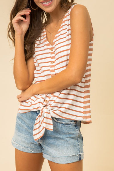 Button Front  Knot Tank
