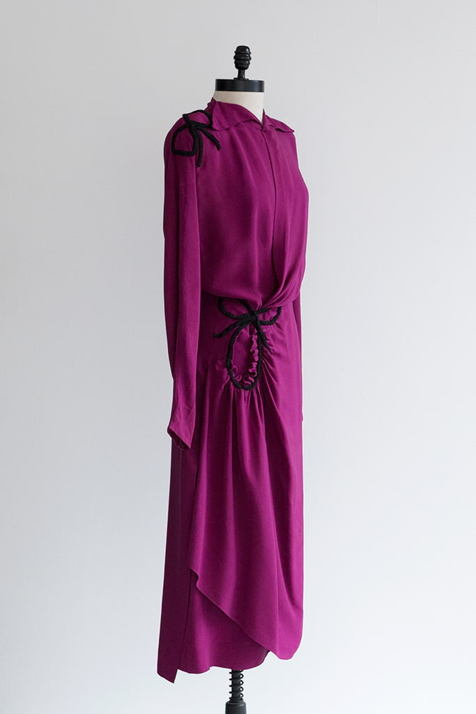 1940s purple dress