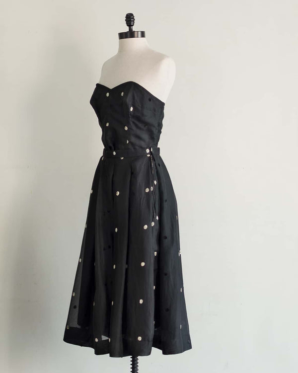1950s Polka Dot Skirt & Bustier Set