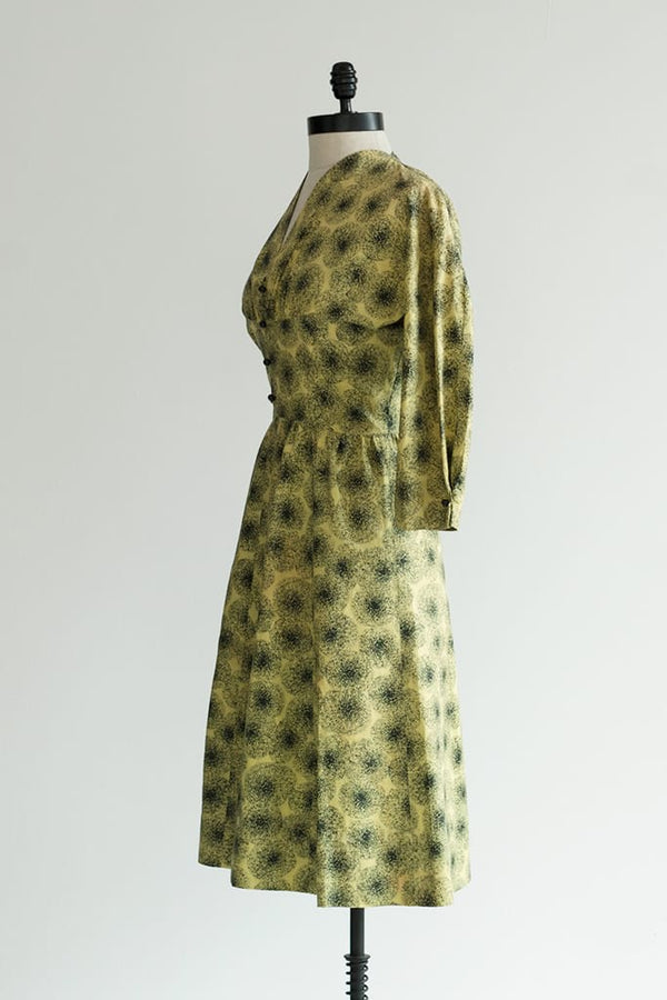 chartreuse cocktail dress
