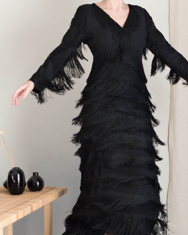 Louis Feraud Fringed Maxi Dress
