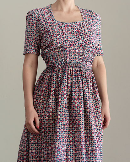 Vintage 1930s Floral Cotton Dress