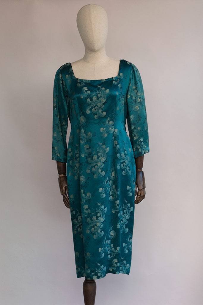 brocade silk dress