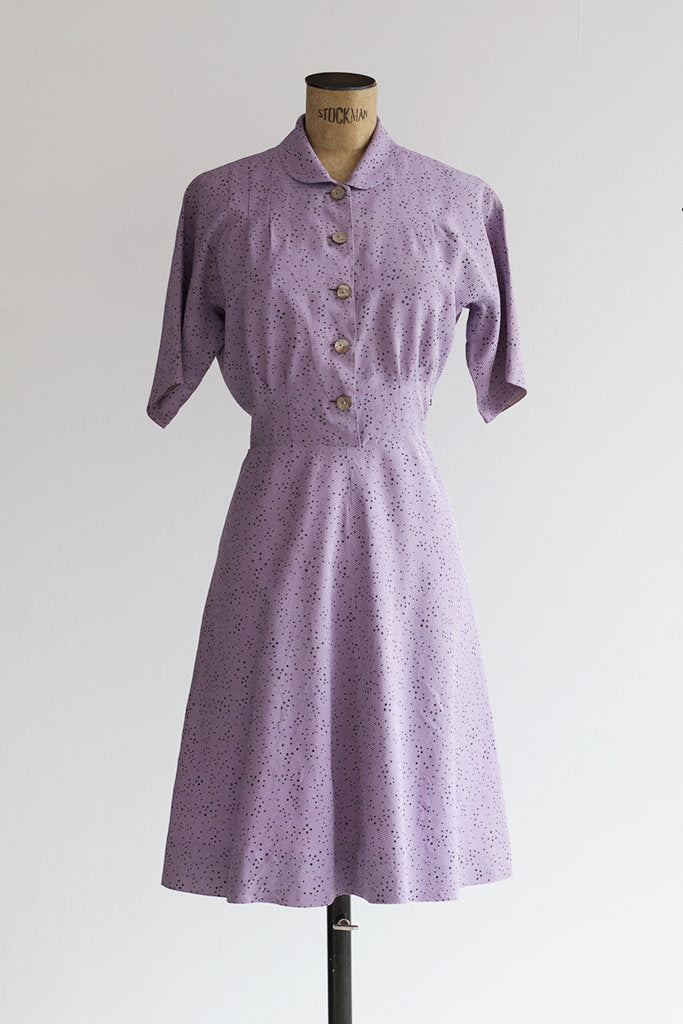 lavender vintage dress