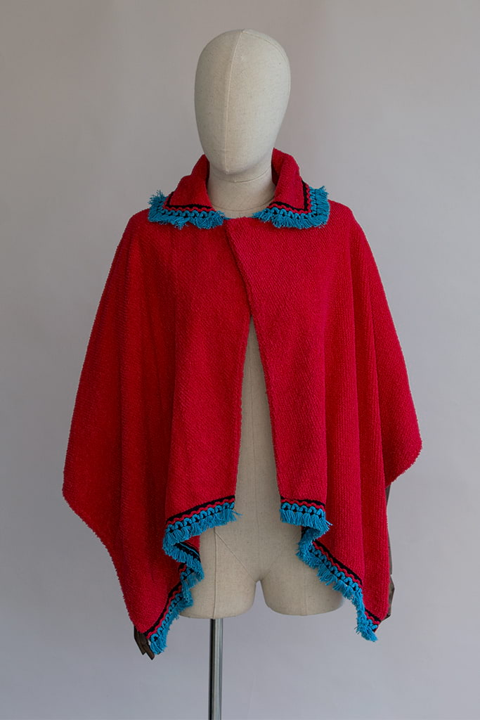 red terry cloth cape