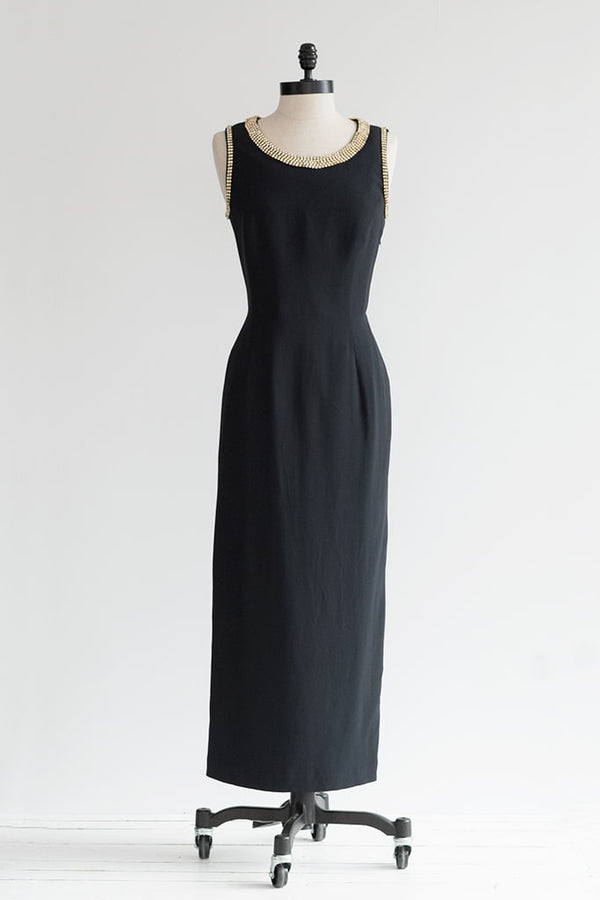 black t back dress