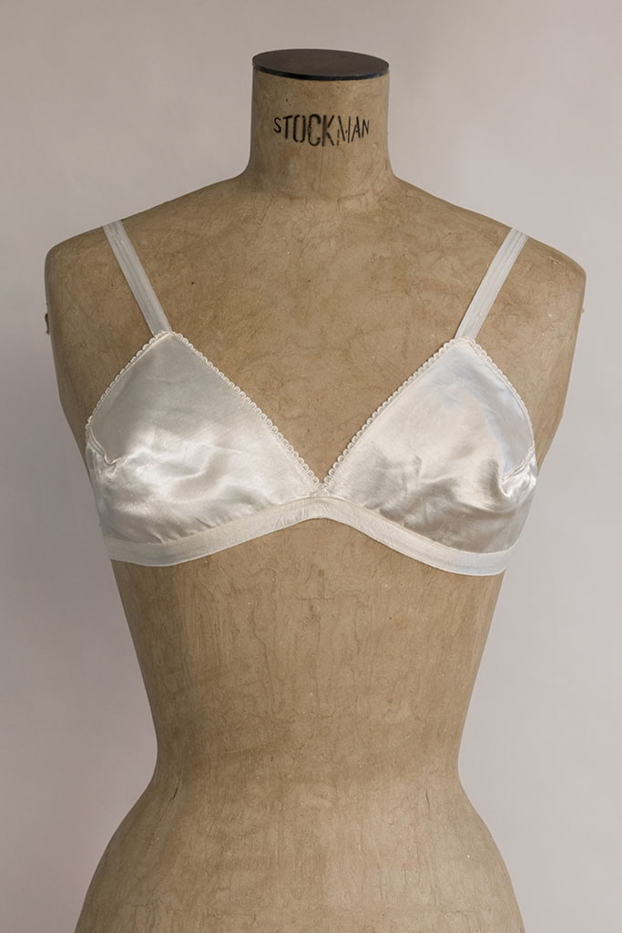 Sibila Bra | Deadstock Vintage Early 50's Satin Bralette