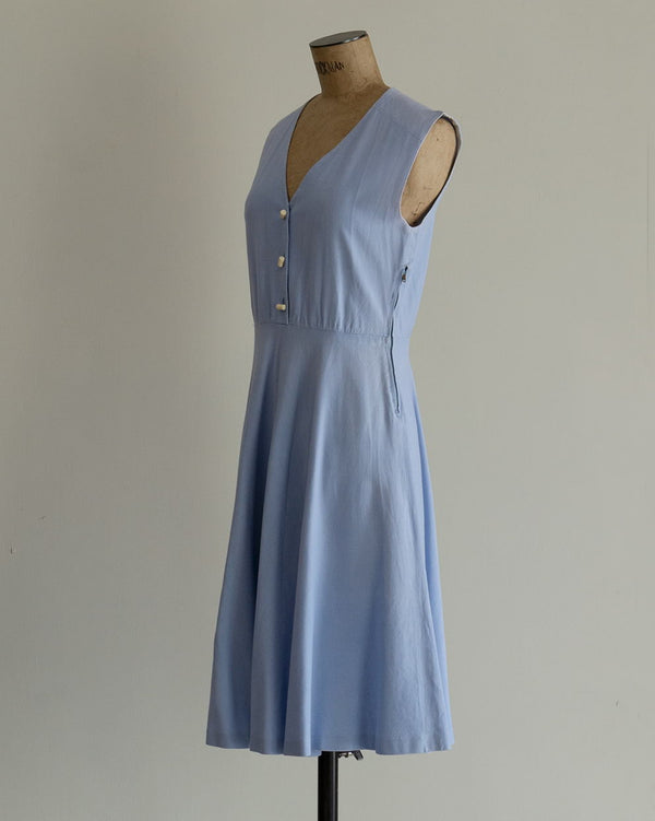 Vintage 70s Light Blue Dress