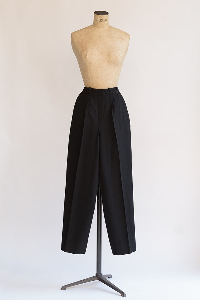 Montjuic Pants | Black Wool 1940s Pants