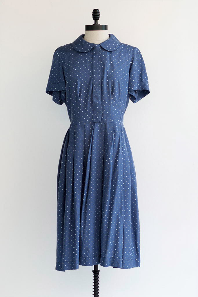 1960s Polka Dot Vintage Silk Dress