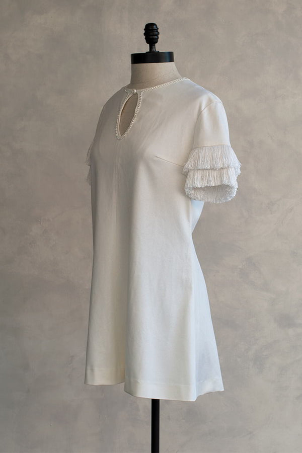 short white vintage dress