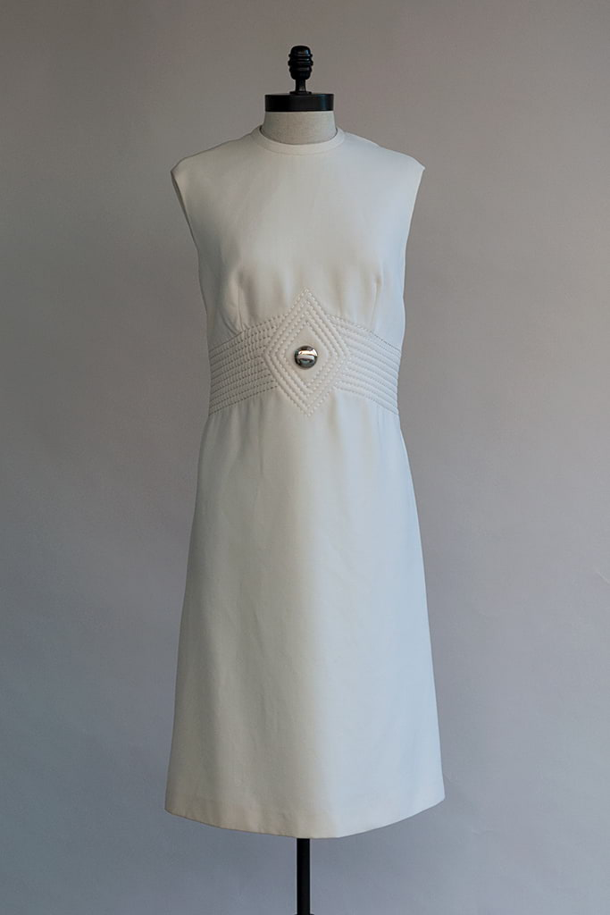 Time Machine Dress | 60s White Wool Dress