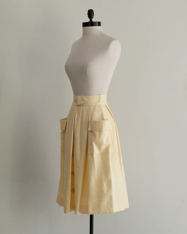 Vintage 60s Light Yellow Skirt