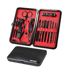 Load image into Gallery viewer, Mens 16 in 1 Manicure Set & Travel Case