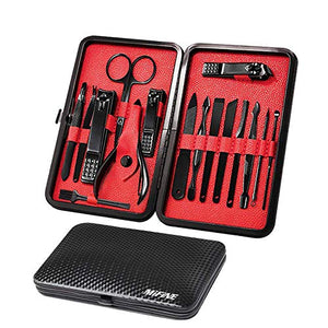 Mens 16 in 1 Manicure Set & Travel Case