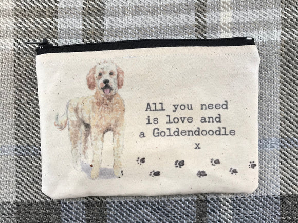 Goldendoodle coin purse