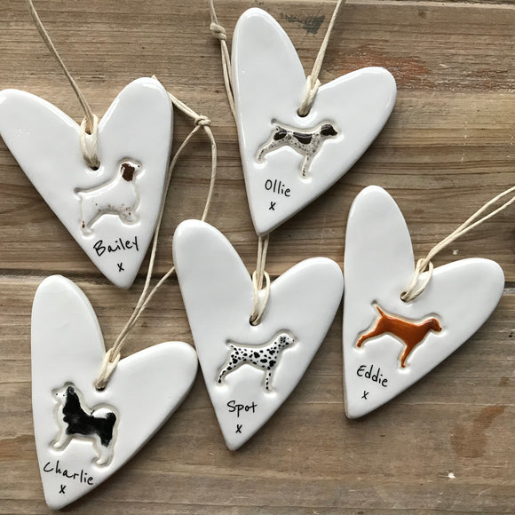 Personalised Dog heart