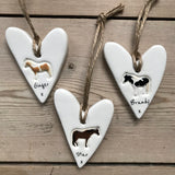 Personalised Horse heart