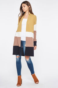Oh So Styling Color Block Cardigan