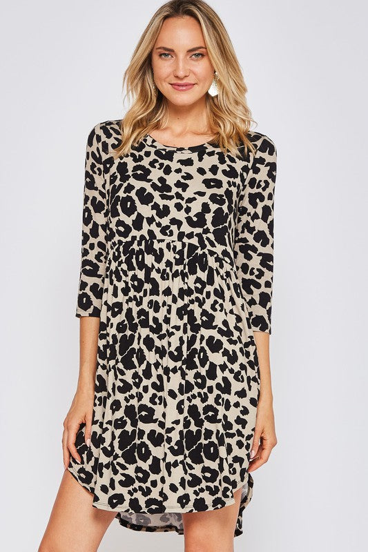 Leopard Baby Doll Dress