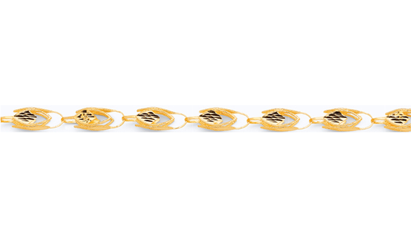 10K 12MM SOLID GOLD TURKISH CHAIN