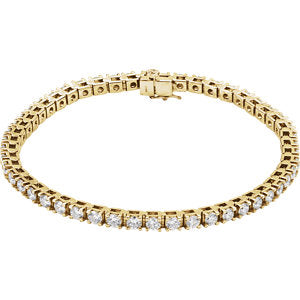 "14K Yellow 4 1/2 CTW Diamond Line 7.25"" Bracelet"