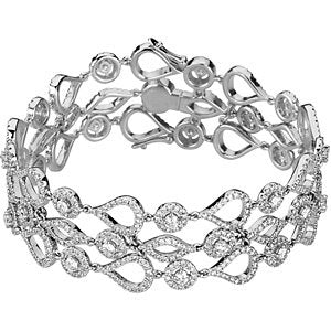 14K White 6 1/2 CTW Diamond Bracelet