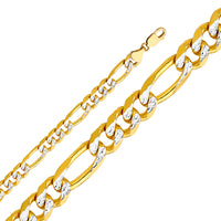 14KY 9.5mm Figaro Chain